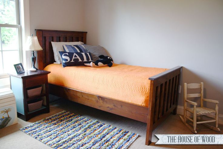 how to build a twin size bed frame woodworking projects plans. Black Bedroom Furniture Sets. Home Design Ideas