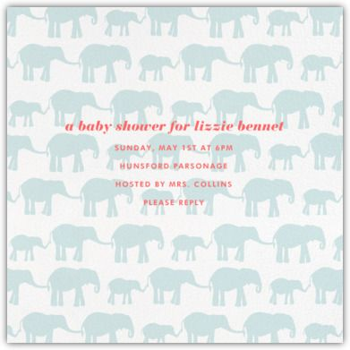 Elephants   Paperless Post · Baby Shower ...