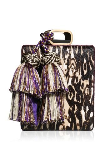Cheetah print hair calf perfume clutch by TONYA HAWKES Preorder Now on Moda Operandi