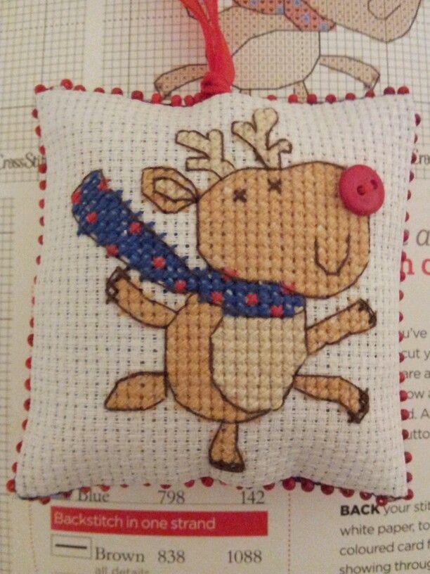 """""""Reindeer"""" CrossStitcher issue 259."""