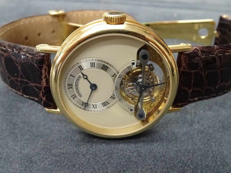 HAU Breguet Tourbillon hochfeines & extrem seltenes Armband - Tourbillon 750 Gold Handaufzug HAU Br