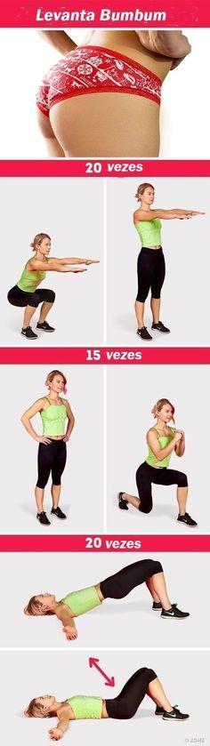 Os 12 Exercícios Para Aumentar o Bumbum! #dicas #dicasdebeleza #fitness #belleza #mulheresquetreinam #mulher #academy #fashion