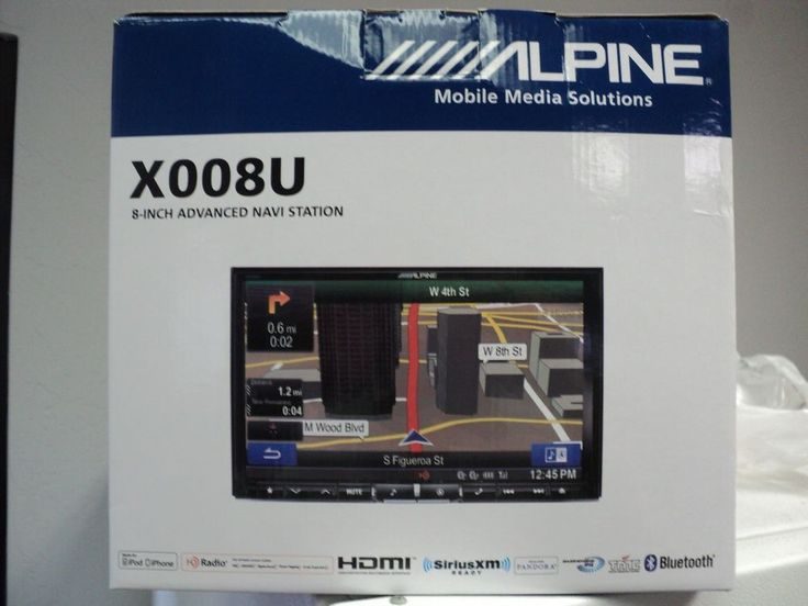 X008U  Alpine 8-Inch in dash Advanced Navigation Screen #Alpine