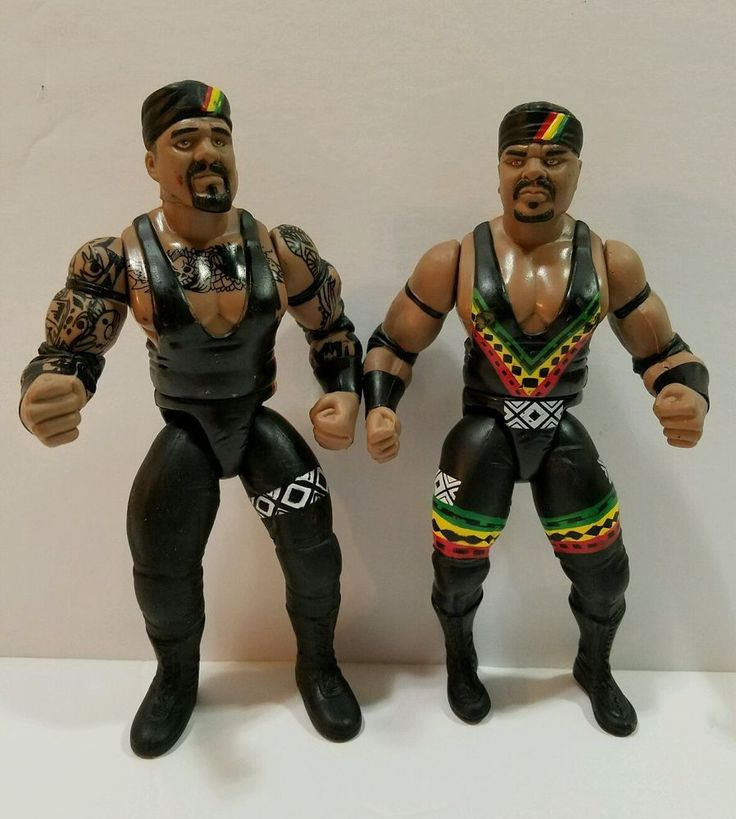 Kama Mustafa D'Lo Brown wrestling WCW WWF WWE Nation of Domination lot 2 figures #JAKKSPacific
