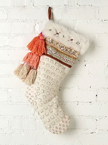 I never thought I would be so attached to a Stocking... I want this so bad...FP ONE Tinsel and Lace Stocking