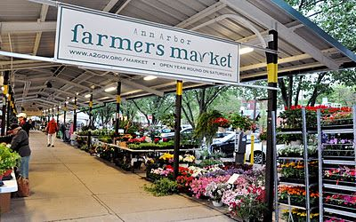 The Ann Arbor Farmers Market is a year-round, producers-only market located in Ann Arbor's Historic Kerrytown District, 315 Detroit Street, Ann Arbor, Michigan.  HOURS  May - December:   Wednesday and Saturday, 7 a.m. to 3 p.m.    January - April:  Saturday only, 8 a.m. to 3 p.m.    May - September:  Wednesday evenings, 4:30 to 8:30 p.m.    HISTORY  The Ann Arbor Farmers Market was started over 90 years ago, and has been in its current location for much of that time.