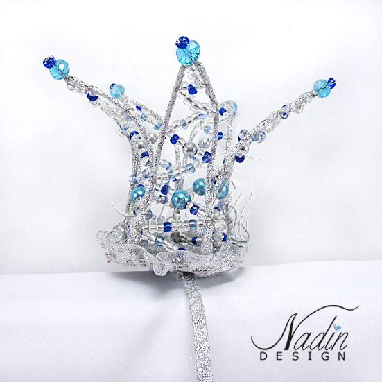 Короны из бисера и хрустальных бусин от Nadin Design