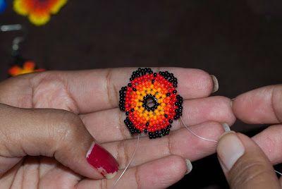 Huichol flower Tutorial | Peiote Jewellery