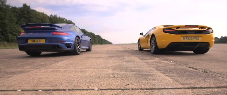 Supercar Showdown: #Porsche 911 Turbo VS #McLaren 12C! WARNING - this could get messy! Hit the pic watch the video.