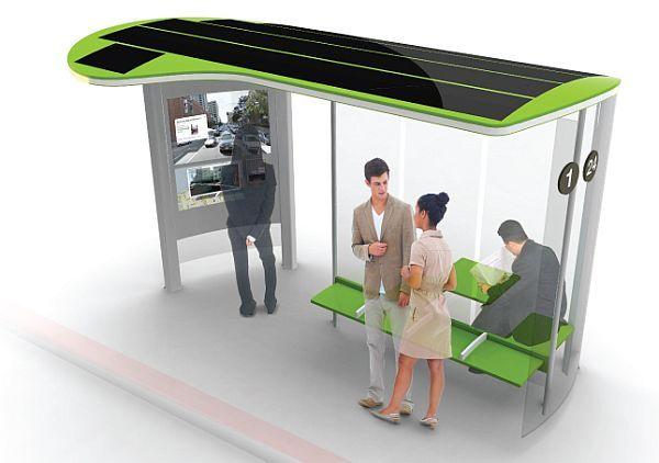 Solar powered bus stops by Johann Paquelier