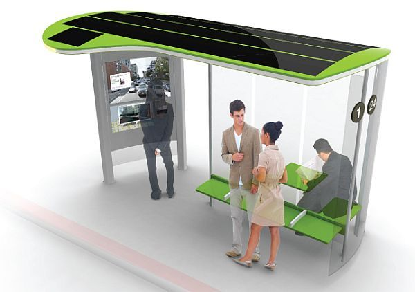 Solar powered bus stops by Johann Paquelier