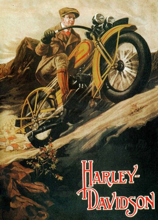Harley Davidson vintage poster                                                                                                                                                                                 Más
