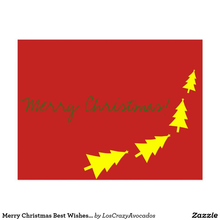 Merry Christmas Best Wishes Fir Tree Postcard
