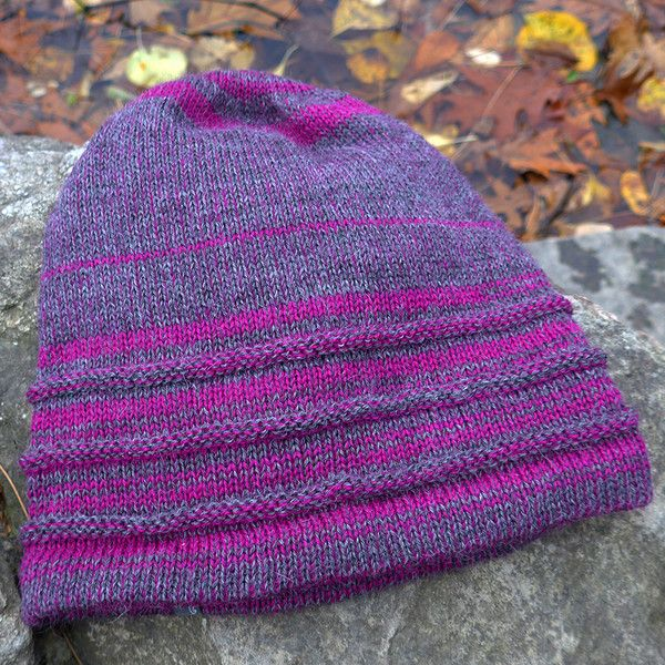 Super soft baby alpaca hat in a fun, bright color pattern!