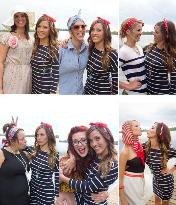 Vintage-inspired bachelorette party