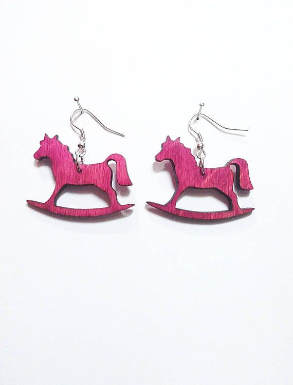 Check out this item in my Etsy shop https://www.etsy.com/listing/526549967/dangle-wooden-earrings-horse-silver-925