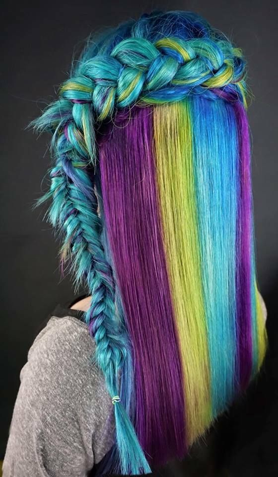 Blues, Greens and Purple in Pravana by hairwitha