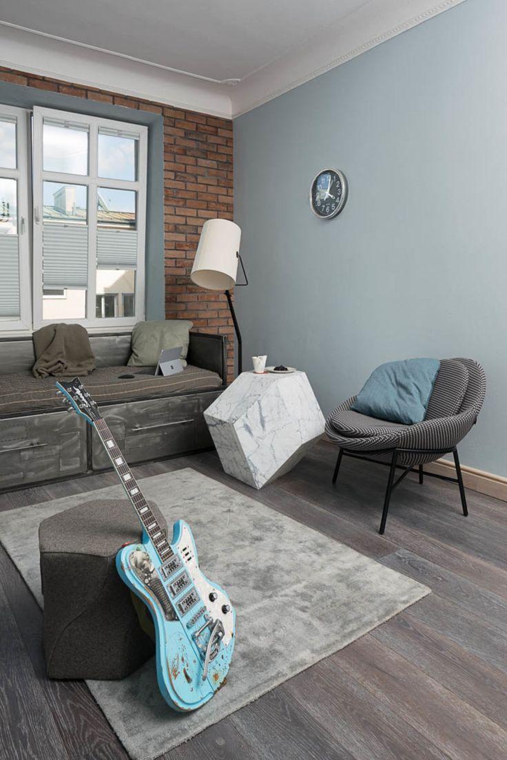 Łóżko industrialne @cubeo Projekt wnętrz @tryc.pl #industrial #interiors #designer #furniture Foto: Rafał Nebelski