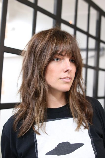 BangsWhat To Ask For: A long shag with face-framing fringe that tapers out at the ends. The shag is still going strong in L.A., but it can be polarizing. Luckily, you can temper the rock