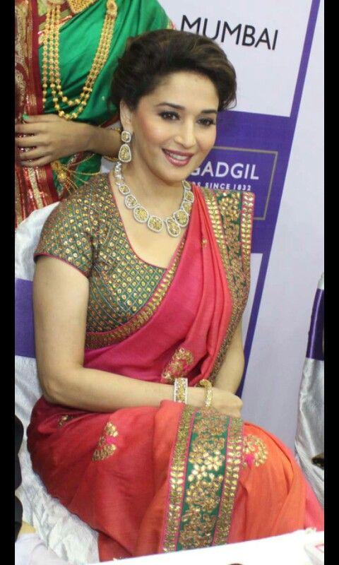 Saree madhuri style