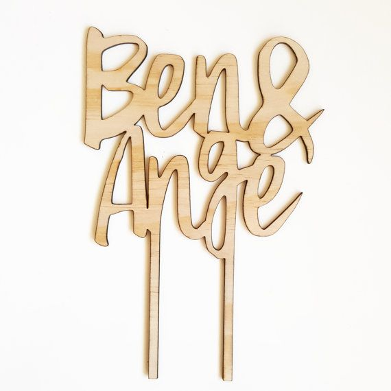 Custom timber wedding cake topper. Personalised wooden wedding decor. Laser cut plywood.