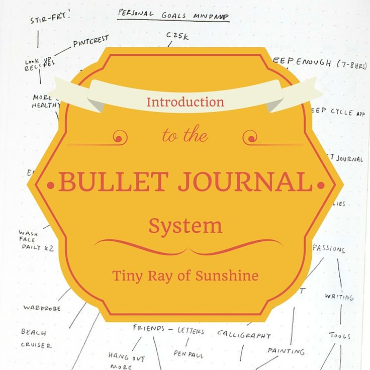 Tiny Ray of Sunshine: Introduction to the Bullet Journal
