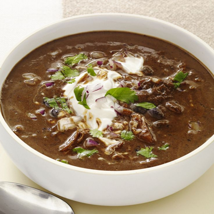 Slow-Cooker Black-Bean Soup with Turkey By Food Network Kitchen