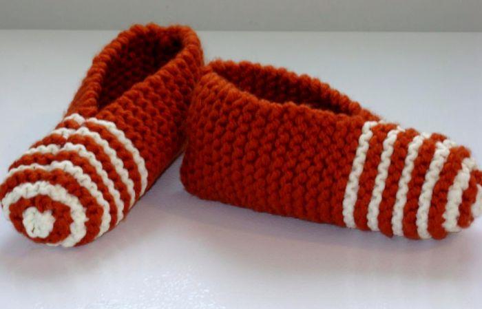 Pantoufles à rayures | 3 petites mailles