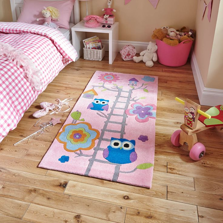 The Tree Top Owl design in Pink is a popular choice for children's bedrooms and play areas.