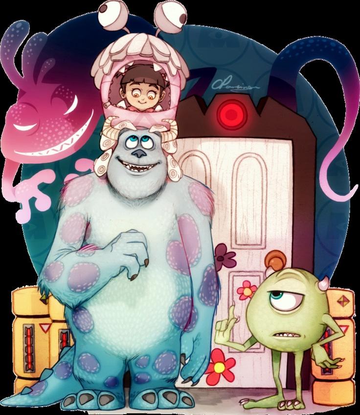 wonderfull *Q* Monster inc art