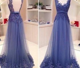 elegant lace prom dress