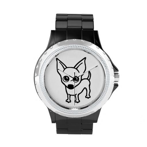 Chihuhua Dog wrist watch - http://www.zazzle.co.uk/chihuhua_dog-