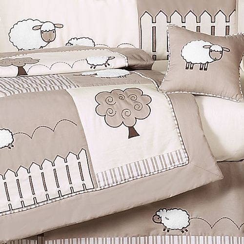 nursery room sheep theme | Details about DISCOUNT CREAM SHEEP LAMB UNISEX 9p BABY CRIB BEDDING ...