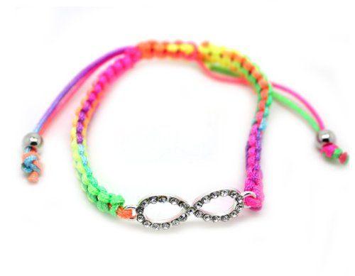 Very Rare One Direction Rainbow String Bracelet w/ Infinity Directioner Charm - $8.99