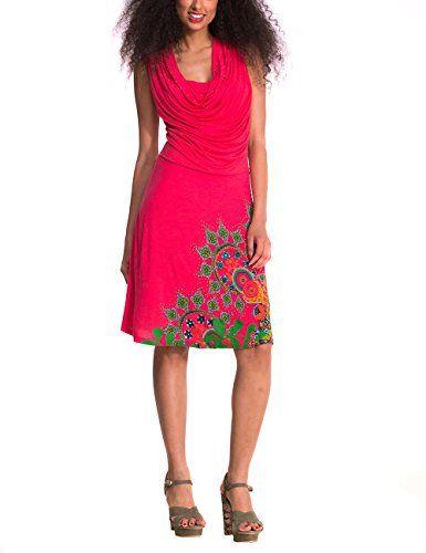 Desigual Babylee - Robe - Trapèze - Imprimé - Sans manche - Femme - Rouge (Emberglow) - FR: 38 (Taille fabricant: S) Desigual http://www.amazon.fr/dp/B00OQ3S7IE/ref=cm_sw_r_pi_dp_kOC9vb1SNB4E0