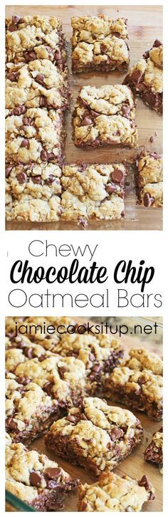 Chewy Chocolate Chip Oatmeal Bars