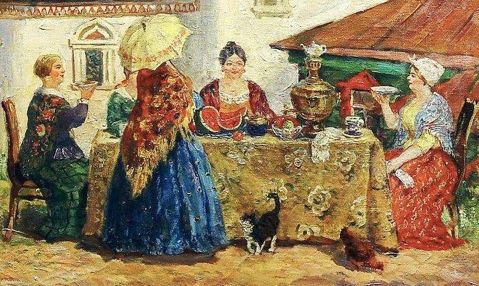 Чай на руси фото бояре