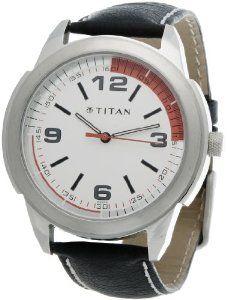 Titan Octane Analog White Dial Men Watch   NE1585SL01