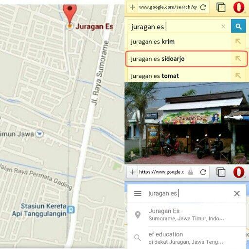 lokasi JURAGAN ES SIDOARJO sangat mudah untuk dicari... bisa dari google ato dari map.... ^-^