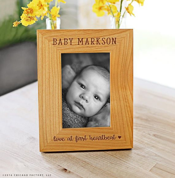 Newborn Frame Custom Engraved Frame Personalized Picture Frame