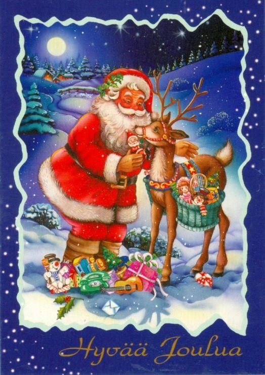 Рождественская открытка финляндия