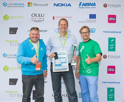 Our CEo Tommi at the midnight pitch fest Joni_Tuomaala-7914 | Flickr