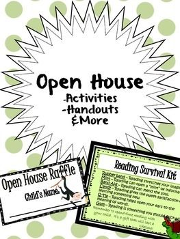 Beginning of the Year - Open House - Activities, Handouts, & More