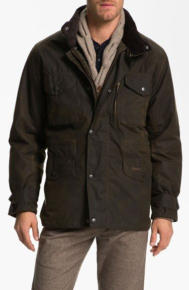 Barbour+'Sapper'+Regular+Fit+Waterproof+Waxed+Cotton+Jacket+available+at+#Nordstrom