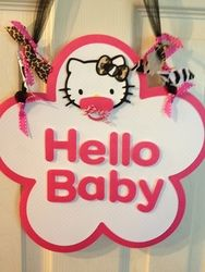 "Baby Hello Kitty / Baby Shower/Sip & See ""Hello Baby/Jade's Baby Shower"" 