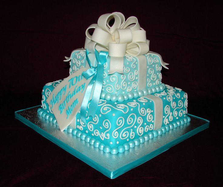 Black White And Blue Birthday Cakes