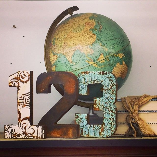 Fab patinas with Metal Effects | Numbers and Letters Decor Art | Project by re.invent.ed