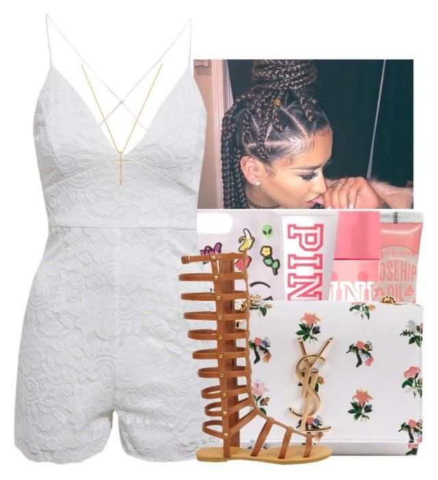 """""""Momma[Yo gotti]"""" by maiyaxbabyyy ❤ liked on Polyvore featuring Yves Saint Laurent, AX Paris and Nephora"""