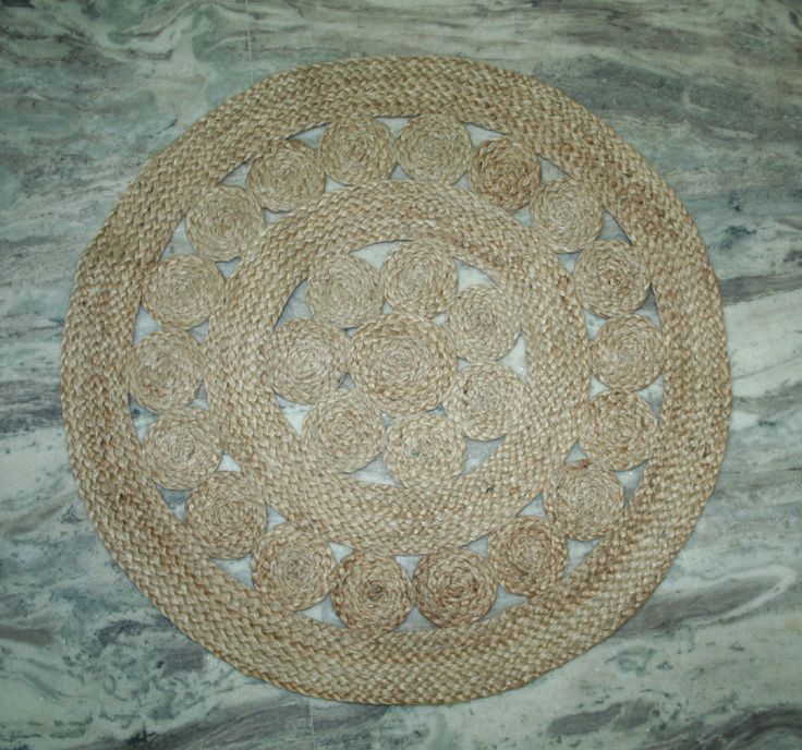 New WelCome Door Mat Jute Out Door Mat Floor Mat Round Bed Room Door Mat Kilim  #Handmade