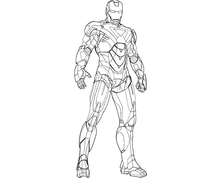 Printable Iron Man 3 For The Kids Coloring Pages For